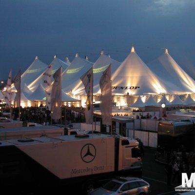 Event am Nürburgring mit Großzelten