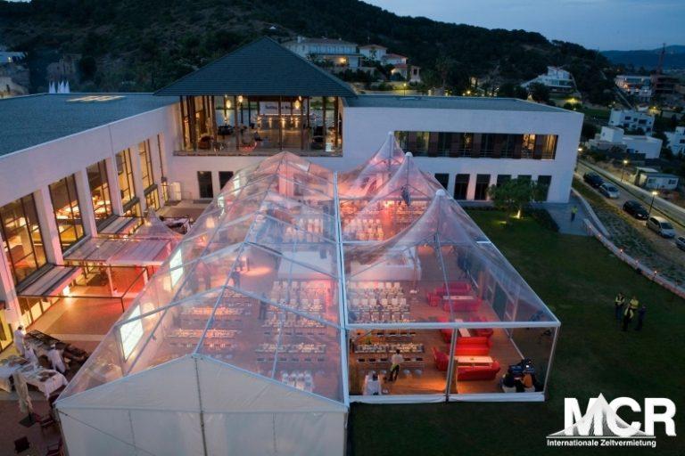 Transparente Zelte - Zeltvermietung