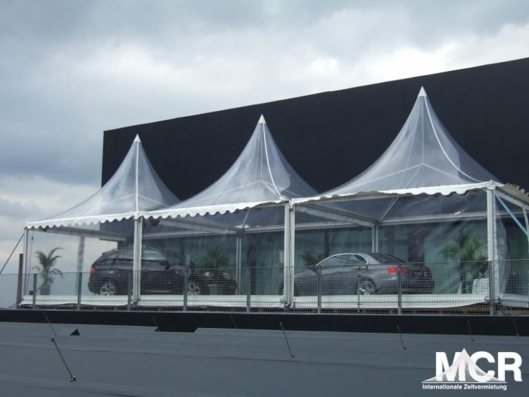 Zeltvermietung von Transparenten Zelten