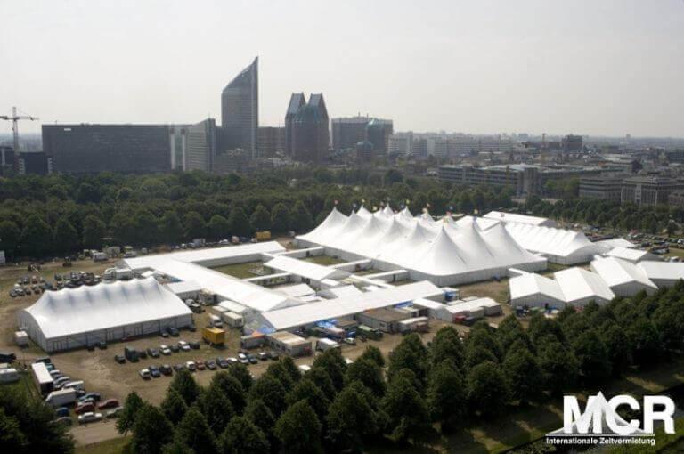 18 Master Membranzelt mit Zelthallen